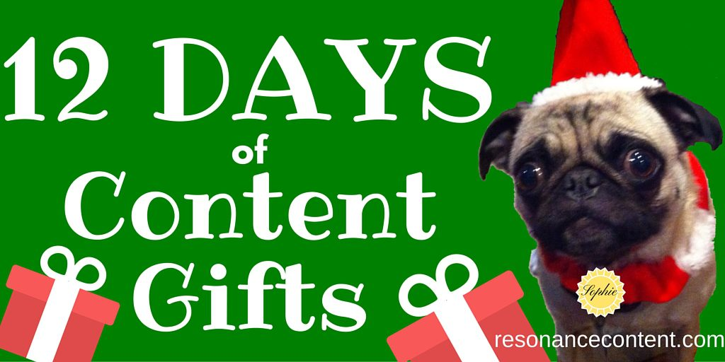 12 Days of Content Gifts