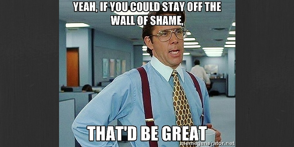 Stay Off the B2B Blogging Wall of Shame